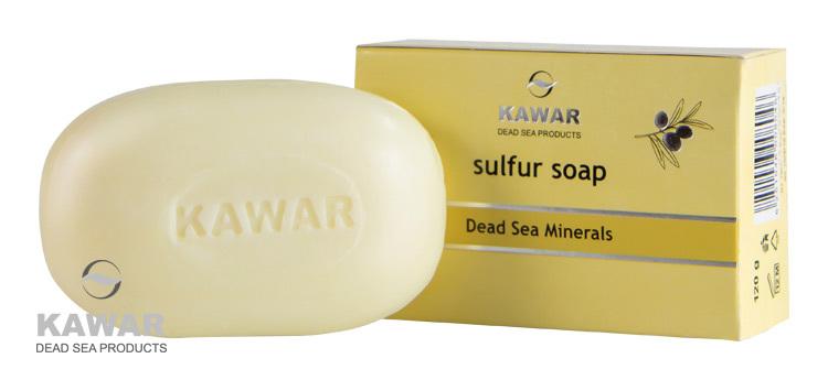 Zobrazit detail výrobku Kawar Sírové mýdlo s minerály z Mrtvého moře 120 g - SLEVA - poškozená krabička