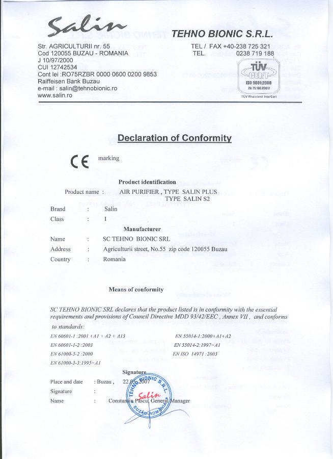 Certifikát o shodě