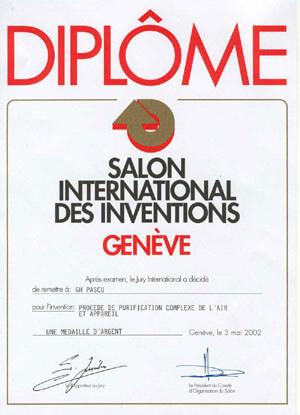 Ocenění ze světové výstavy vynálezů Ženeva