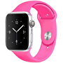 Silikonový řemínek pro Apple Watch - Barbie růžová 42/44 mm - S/M