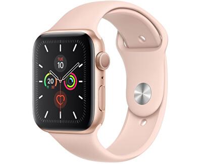 Watch Series 5 40mm aluminiu auriu cu curea sport roz