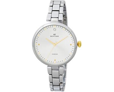 Dámské hodinky s diamantom 027-9MB-PT12103B