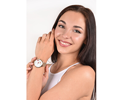 Orologio floreale da donna 007-9MB-PT11894X
