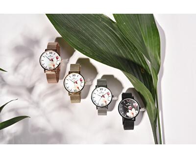 Dámské květinové hodinky 008-9MB-PT11894Y