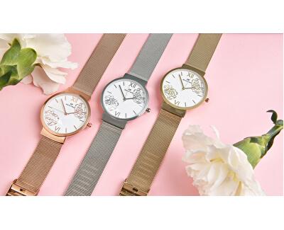 Dámské květinové hodinky 008-9MB-PT12084F