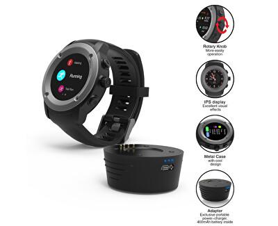 GPS Sportwatch Tarnish Black