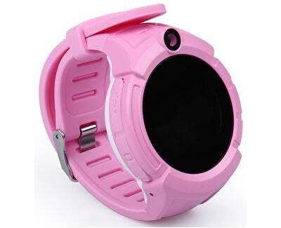 GW600 dětské hodinky s GPS růžové