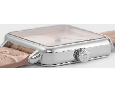 La Tétragone Silver/Soft Almond Alligator CL60019