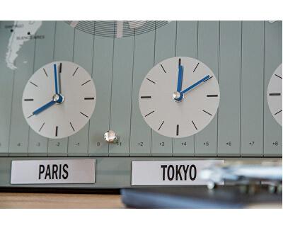 Nástěnné hodiny s mapou světa WNW018GY