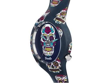 Calaveras Mood Blue Skull DOCA005