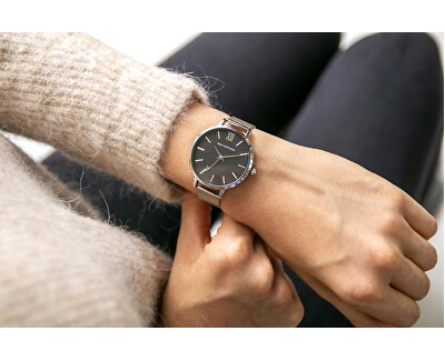 Crace Silver Mesh Watch ECH-2514