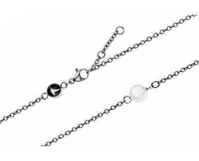 Seashell Mesh & Silver Mini Pearl Bracelet EWS001