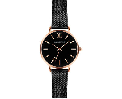 Callum Brae Black Mesh Watch ECG-3314