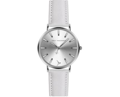 Gorgona White Leather Strap Watch ECA-B018S
