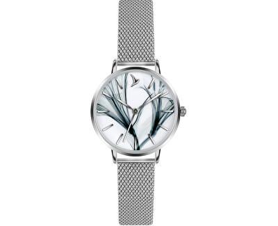 Gulf Silver Mesh Watch ECI-2514