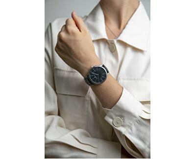 Broad Peak Black Croco Leather Strap Watch FBX-B001S