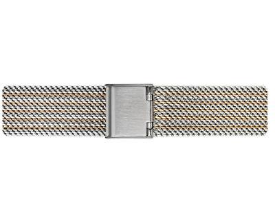Fansipan 2 tone. Steel + Rose Gold Mesh FCM-2718