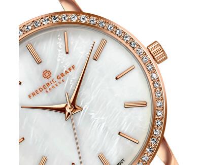 Kamet Rose Gold Fine Mesh Watch FCD-3218
