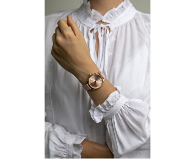 Kanjut Sar Lychee Pink Leather Strap Watch FCE-B035R