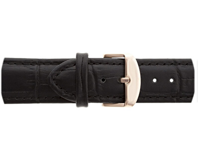 Rose Mont Fort Croco Black Leather FBL-B001R
