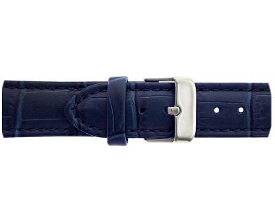 Silver Mont Fort Croco Blue Leather FBJ-B038S