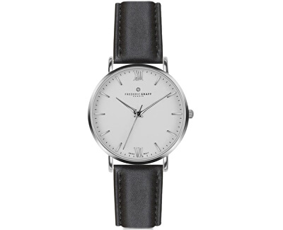 Silver Dent Blanche Black Leather FAH-B007S