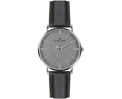 Silver Eiger Black Leather FAB-B007S