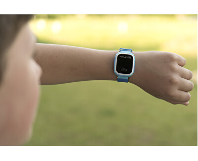Chytré dotykové hodinky s GPS lokátorem LK 703 růžové - SLEVA