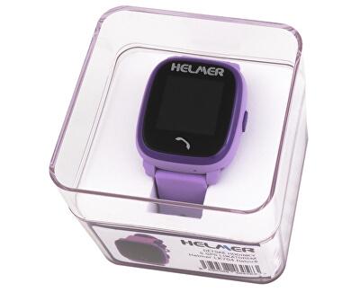 Orologio intelligente con lo schermo touch, impermeabile e con localizzatore GPS - LK 704 viola