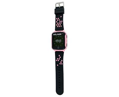 Orologio intelligente con lo schermo touch, localizzatore GPS e camera - LK 707 rosa