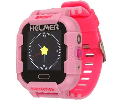 Smart dotykové hodinky s GPS lokátorom a fotoaparátom - LK 708 ružové
