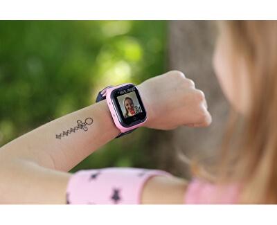 LK 709 4G modré - dětské hodinky s GPS lokátorem, videohovorem, vodotěsné