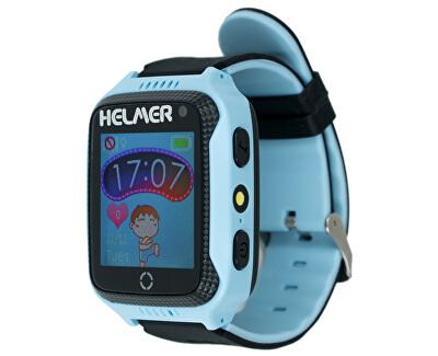 Orologio intelligente con lo schermo touch, localizzatore GPS e camera - LK 707 blu