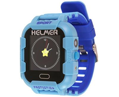 Smart dotykové hodinky s GPS lokátorom a fotoaparátom - LK 708 modré