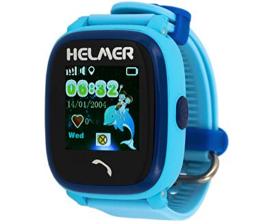 Orologio intelligente con lo schermo touch, impermeabile e con localizzatore GPS - LK 704 blu