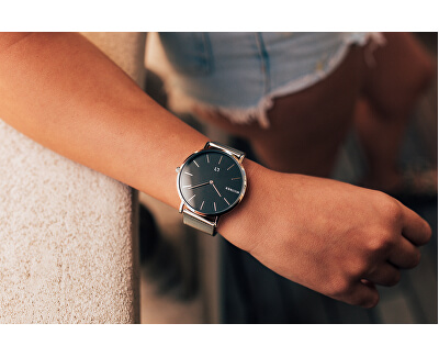 MayfairS Silver Black 36 mm