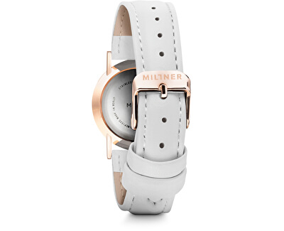 Mini White Leather