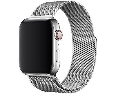 Apple Watch řemínek - milánský tah 40 mm stříbrný - SLEVA III