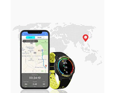 GPS Smartwatch W70G s kompasem, barometrem a výškoměrem - Black