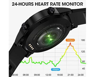 W12B Smartwatch - Black Silicone - SLEVA III