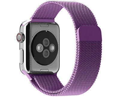 Ocelový milánský tah pro Apple Watch - Fialový 38/40 mm