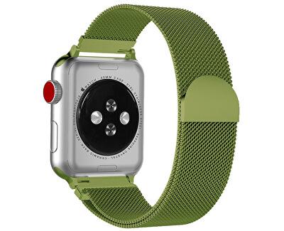 Ocelový milánský tah pro Apple Watch - Limetkový 42/44 mm