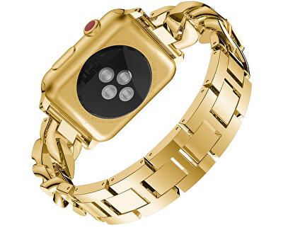 Ocelový tah pro Apple Watch - zlatý - 38/40 mm