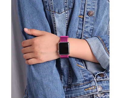 Provlékací sportovní řemínek pro Apple Watch - Dragon Fruit 42/44 mm