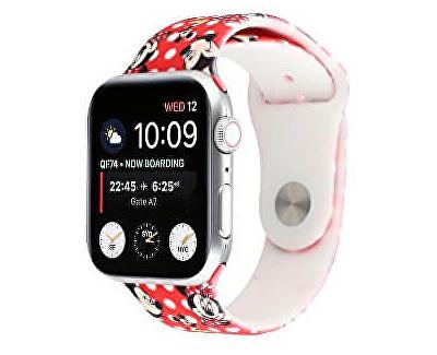 Silikonový řemínek pro Apple Watch - Červený Mickey Mouse 42/44 mm