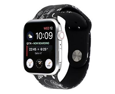 Silikonový řemínek pro Apple Watch - Květinový 38/40 mm