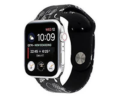 Silikonový řemínek pro Apple Watch - Květinový 42/44 mm