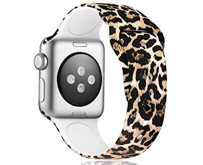 Silikonový řemínek pro Apple Watch - Leopardí 42/44 mm