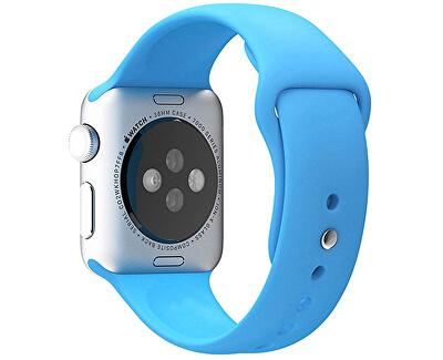 Silikonový řemínek pro Apple Watch - Světle modrý 38/40 mm - S/M