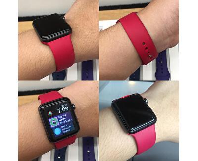 Silikonový řemínek pro Apple Watch - Vínová 38/40 mm - S/M